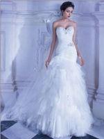 2014 new sweetheart mermaid wedding dress custom size
