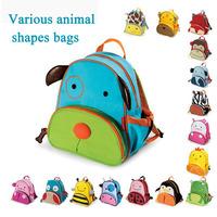 Animal cartoon children's  school bags nursery unisex canvas backpack