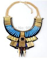 Vintage Exaggerated Designed Ethnic False Collar Women Statement Necklace. Wholesale Fashion Girls Jewelry