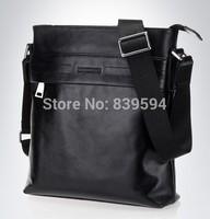 Vertical Mens soft leather bag Shoulder Messenger packet header layer of leather business