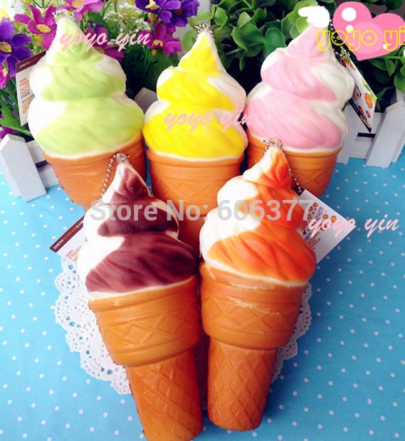 New 16CM Jumbo Super Squishy Ice Cream Squshy Charm/Key Chain