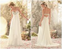 New sexy chiffon beach wedding dress custom size