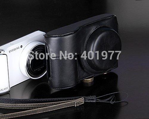 1pc High Quality PU Leather Vintage Professional Camera Bag/case for Samsung GALAXY Camera EK-GC200 Black Color(China (Mainland))