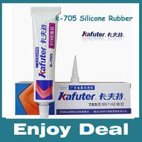 Free shipping Genuine Kafuter k-705 RTV Silicone Rubber Electronic Glue Sealant Transparent Organosilicon 45g 2pcs/lot