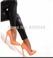 Super sexy high-heeled shoes fashion high heel 13 cm lemon