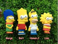 AC208  New Simpson Cute Cartoon Model 4GB 8GB 16GB 32GB 2.0  usb flash drive  memory  card  Stick pendrives Nice Gift