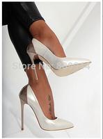 Spike 13CM big yards taste super sexy high-heeled shoes, high-heeled women's singles 13 cm high-heeled fashion lime green round