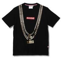 Noise 2014 T shirt Tee Men/ Golden Necklace Short Sleeve T shirt Men and Women