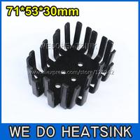 FREE Shipping 10pcs 71x53x30mm Stamping Aluminium Heatsink Radiator For Mosfet Black Anoidzed
