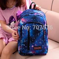 Dubble Shoulder School Leisure Backpacks Fashion Japanese harajuku stars sky men & women travel computer students bag TBK-214