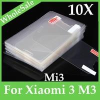 10pcs/lot Anti glare clear Screen Protector Guard Film for Xiaomi 3 M3 Mi3 FM-SO-mi3