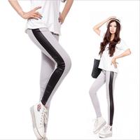 2014 Autumn New Hot Fashion Girls Leggings Sexy Splicing Leather Pants Girls Wholesale