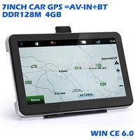 7 inch GPS navigation FM DDR128MB HD 800*480 car gps CPU 800MHZ Navitel  Maps Russia Ukraine Belarus Kazakhstan/chile/USA