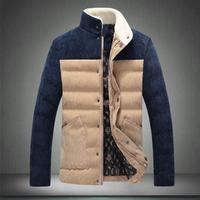 2014 new winter c cotton Coat Male Business jackets men patchwork outwear warm overcoat #722006