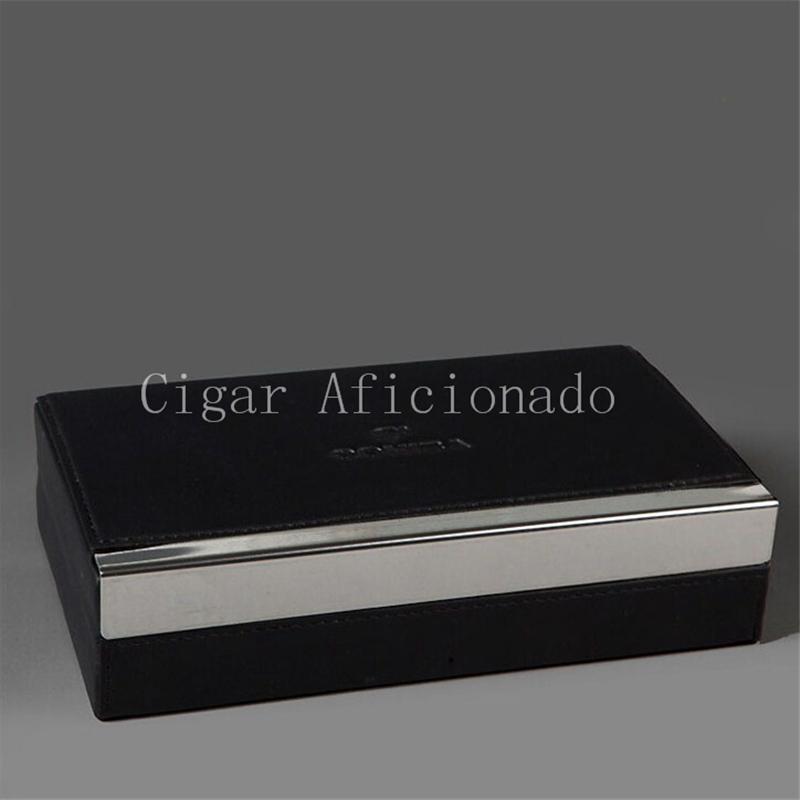 Luxury Brown High Glossy Piano Finish Cedar Wood Cigar Humidor Large Size Double-deck Storage Box Hygrometer Humidifier(China (Mainland))