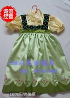Frozen Toddler Anna Dress Cute Summer Short Sleeves Frozen Anna Dress for 2-7ages Baby Anna Dress