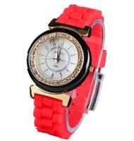 Free Shipping New Geneva 5 Colors Optional Women Dress Watch 2014 Quartz Men Silicone Sport Watches Unisex Wristwatch