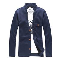 2014 Autumn  men's fashion casual jacket coat wholesale Male free V-neck cotton blending Sweater #72205