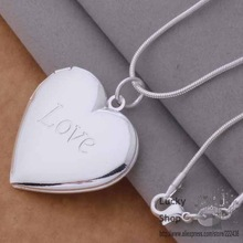 AN737 925 sterling silver Necklace 925 silver fashion jewelry pendant heart and love /bhdajyka emiandpa