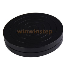 BS#S Black Round Plastic Rotary Plate Turnplate Clay Pottery Sculpture Tool 18cm(China (Mainland))