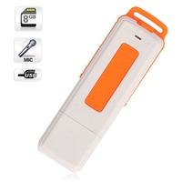 2014 New Orange 8GB Keychains Digital Voice Recorder USB Flash Drive free shipping