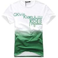 100% brand new Summer O-Neck Cotton Men T-Shirts/Brand Fade Gradient Color Short Sleeve T-Shirt Men/Slim Fit Men Tops