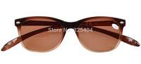 FR007-Bifocal Free Shipping Quality Wayfarer Style Long Arms Bifocal Reading Glasses Brown Lens +1.0--+2.5