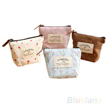 Women's Lady Small Canvas Purse Zip Wallet Coin Key Holder Case Bag Handbag  05T9(China (Mainland))