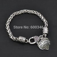 New made zinc alloy believe heart crystal charms bracelets bangles fashion