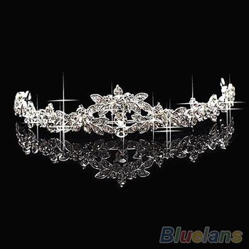 Горячая элегантный блестящие кристалл горный хрусталь корона диадема свадьба выпускного ...