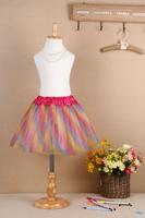2014 Free Shipping Hot Sale 2-8 Years Princess Fluffy Girls  Skirts Children's Tutu Skirts Baby Kids Pettiskirt