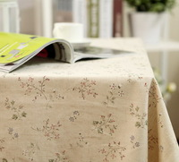Japanese-style garden floral cotton cloth table cloth home hotel decoration elegance jacquard table cloth cover coffee table