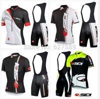 2014 SIDI  bib kit Cycling Jersey Short Sleeve shorts kit  ropa ciclismo MTB bicycle clothing fitness clothes cycling clothing