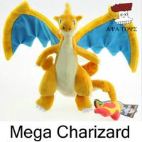 "Free shipping 5pcs/lot Pokemon Plush Toys 9"" 23cm Mega Evolution Charizard Soft Stuffed Toy Animals Doll Wholesale"