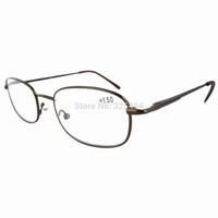 R3232 Metal Frame Spring Hinge Arms 4 Pairs of Reading Glasses Brown-4pcs +1.00~~+4.00