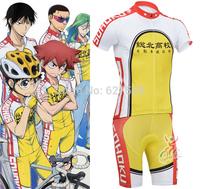 Yowamushi Pedal Sohoku bib kit Cycling Jersey Short Sleeve shorts kit  ropa ciclismo MTB bicycle fitness clothes cycling clothes