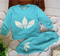 New spring  autumn baby clothing sets baby boy girl  long sleeve t-shirt + pants children sport suit  brand fashion