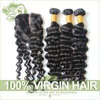 6A Unprocessed Virgin Mongolian Kinky Curly Hair With Closure 4Pcs Lot Cheap Mogolian Virgin Hair Kinky Curly Hair Lace Closures