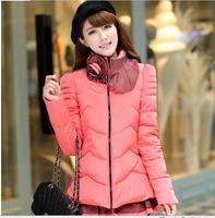 Lace Padded Cotton Jacket Women Winter Coats 2014 Plus Size Down Jacket DJ-8