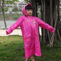 Fashion student child raincoat school bag belt eco-friendly male Women poncho