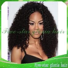 Естественно волосяного покрова # 1b # 1 натуральный черный бразильский странный вьющиеся glueless парик / фронта парик с отбеливатель узлов расчесывания