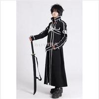 2014 New TS Novetly  Cosplay Costume Unisex Anime Sword Art Online Kirito Kazuto Kirigaya ST