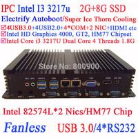 Hdmi core i3 mini pc with 2* Intel 82574L Nics HM77 4USB 3.0 4COM 2G RAM 8G SSD WIN7 WIN8 LINUX free drive NAS Free 7*24 hours