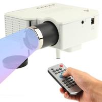 400 lumens 1080P HD Multimedia Mini Portable LED Projector Support HDMI VGA AV USB SD Card Model UC28+  LED lamp Remote Control