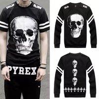 2014 spring New Versa Hip-hop men women's cartoon cross pyrex skull 3d print pullovers GIV Brand Galaxy Sweatshirts Hoodies Tops