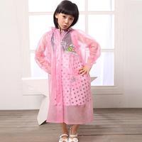 Fashion cartoon child poncho school bag belt breathable