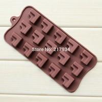CF 15 Cavities L Shape Sofa DIY Chocolate Mold Silicone Ice Mold Free Shipping