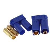 100PCS=50PAIRS EC5 EC5.0 PLUG GOLDEN plug Female Male Bullet Connector with BLUE housing For RC ESC LIPO Battery Motor