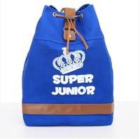 Super Junior canvas backpack String  mochila travel laptop bags teenagers school bag element women and man backpacks #0121