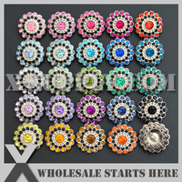 Free Shipping 21mm Acrylic Rhinestone Button,Shank Backing for Headband Flower Center,Mixed Colors